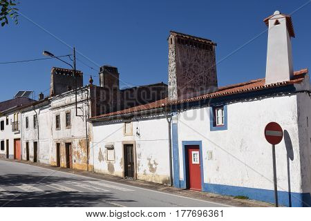 Typical House With Fireplace In The Village Of Alpalhao, Alentejo Region, Portugal