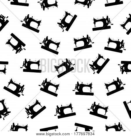 Seamless Vector Pattern - Sewing Machine