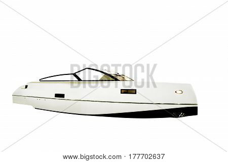 motor boat. The image of an passenger motor boat