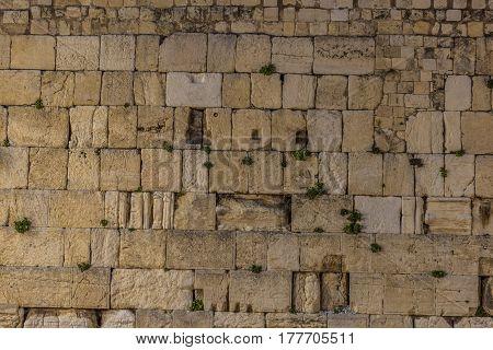 The wailing wall of the Jerusalem city