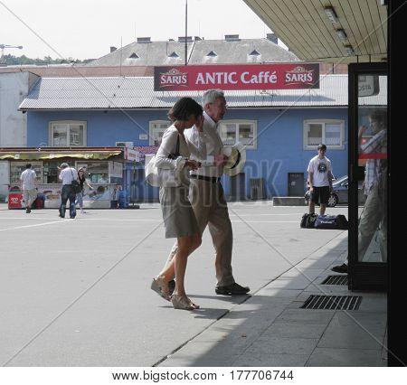 Commuters In Bratislava