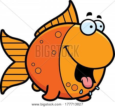 Hungry Cartoon Goldfish