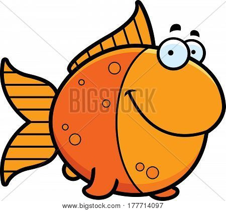 Cartoon Goldfish Smiling