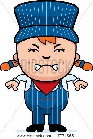 Angry Train Conductor
