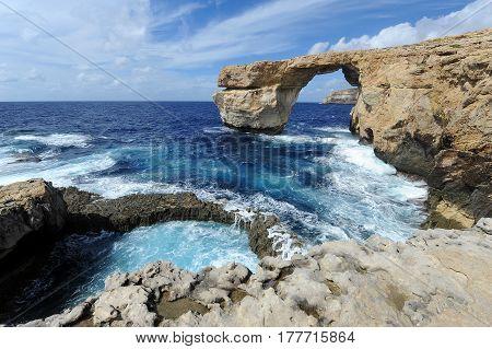 Azure Window in Gozo island, Malta, Europe