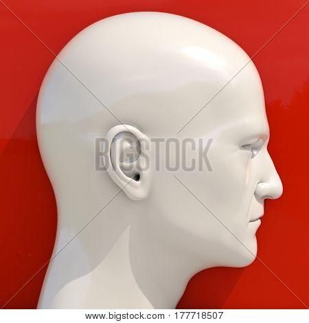 3d render: Mannequin Dummy Head