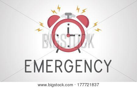 illustration of alarm clock icon notification
