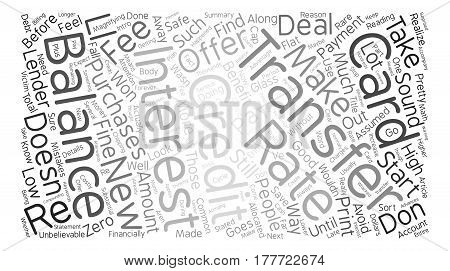 Avoid These Common Credit Card Balance Transfer Mistakes text background word cloud concept