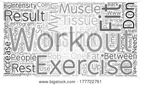 Avoid These Top Workout Myths text background word cloud concept poster