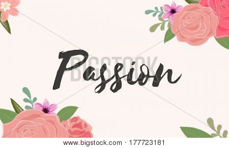 Passion Love Letter Message Words Graphic