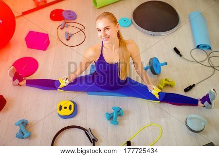 Girl With Fitness Accessories