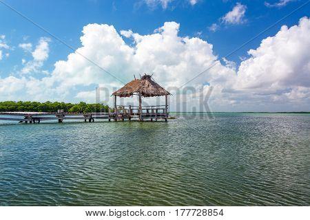 Pier In Punta Allen, Mexico