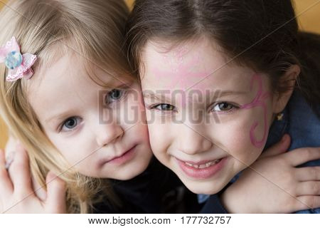 Sisters, little girls