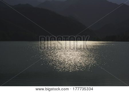 128_Barcis, Italy - August 2016_Sunset on Lake Barcis