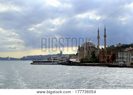 Travel To Istanbul, Turkey. The View On The Bosphorus And The City.