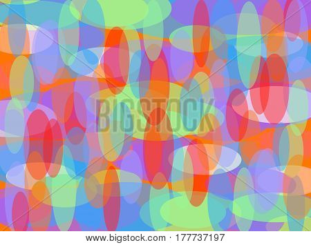 Colorful abstract digital pattern using multiple colors in oval shapes.