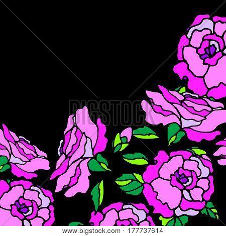floral flower rose spring summer background botanical garden