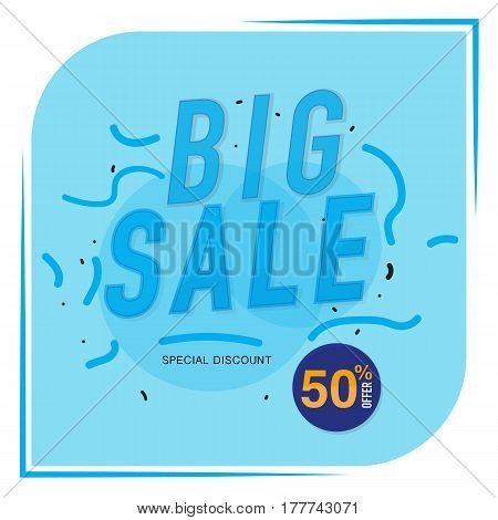 Icon Sale and special offer. 50% off. Vector illustration.Theme color.