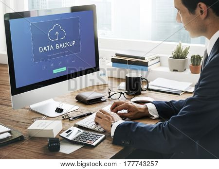 Cloud Network Data Backup Concept