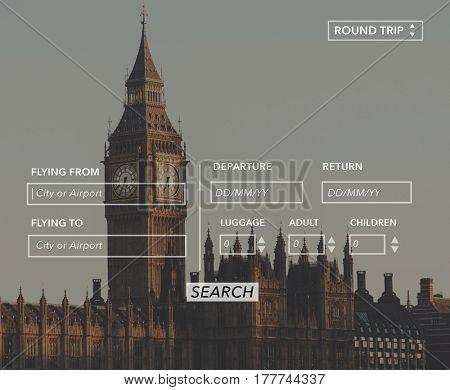 Flight Booking Website Information Banner