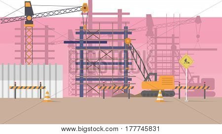 Construction Vector Illustration | Conceptual background design vector | Use for building, architecture, construction, interior and much more. The set can be used for several purposes like: websites, print templates, presentation templates, and promotiona
