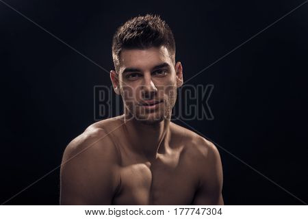 One Young Man, Closeup, Head And Shoulders,