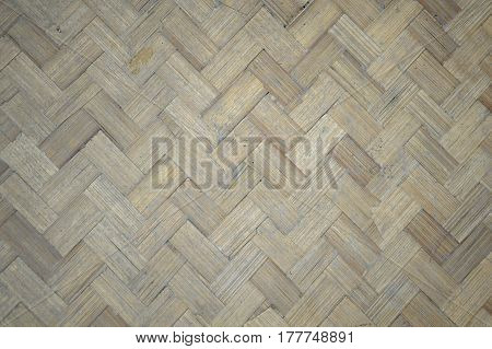 close up dry woven bamboo wood wall texture
