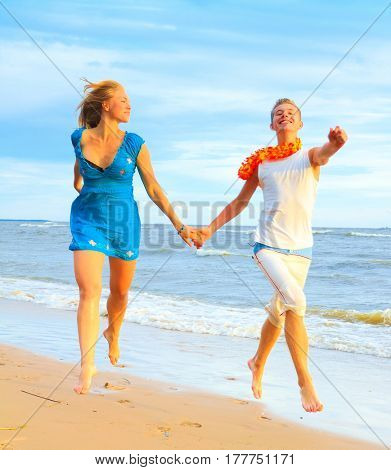 Couple Resort Running
