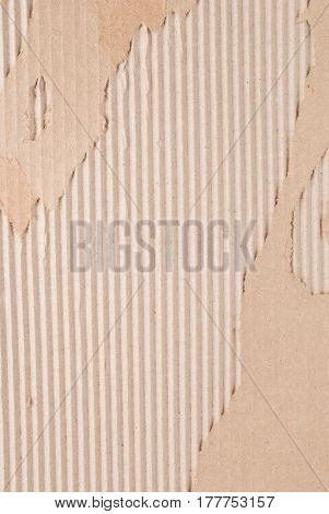 Corrugated Fiberboard with Paper Face Peeled Off