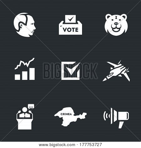 Man, ballot box, bear, rating, choice, fighter, tribune, Crimea, loudspeaker.