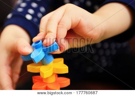 Kids Hand With Constructor