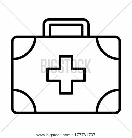 medical assistance outline icon, thin line symbol of medical case, best for web, mobile and logo design