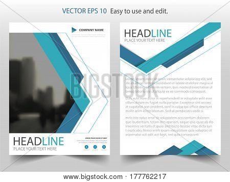 Blue triangle abstract Vector Brochure annual report Leaflet Flyer template design book cover layout design abstract business presentation template a4 size design