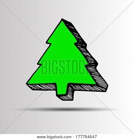 tree christmas decoration celebration vector design winter symbol holiday