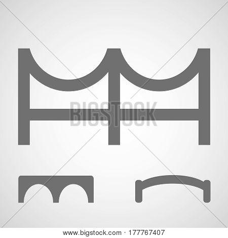 bridge icon . Set of simple bridge symbols