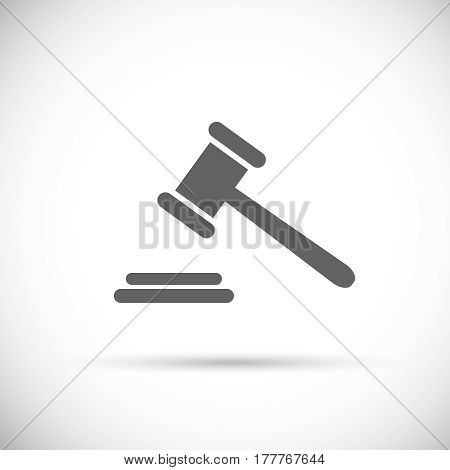 judge gavel icon . Pictogram of auction . Vector justice symbol
