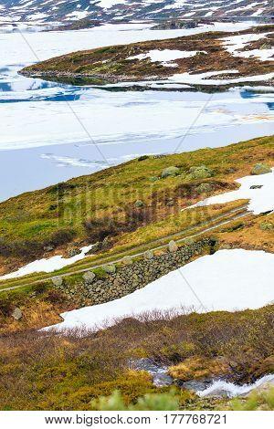 Norway Scenic Mountain Landscape.