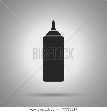 ketchup bottle icon . simple vector illustration of ketchup