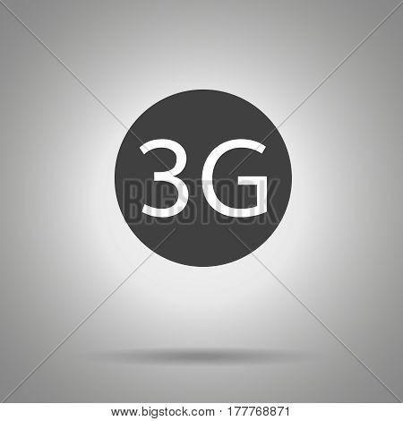 3g icon. 3g symbol in dark circle