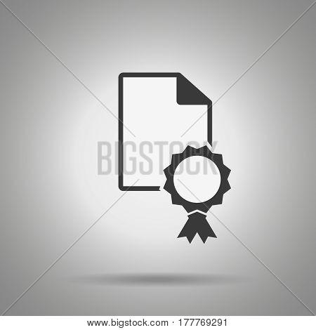 patent icon . Certificate symbol. Vector design element