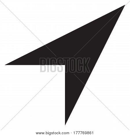 location icon aim arrow background black cartography