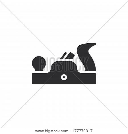 Plane tool icon vector filled flat sign solid pictogram isolated on white. Carpenter symbol logo illustration