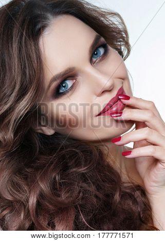 Portrait Of A Beautiful Girl Glamorous Girl