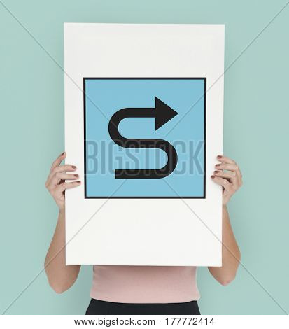 Winding Curvy Road Street Sign Icon