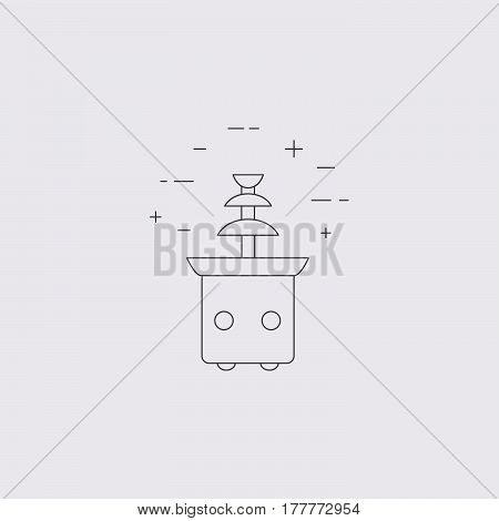 Chocolate Fountain isolated line icon. Restaurant hotel banquet commercial equipment. Vector logo.