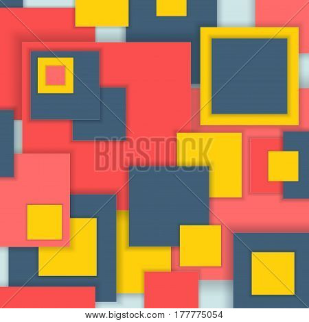 Background Unusual modern material square design. Abstract  Illustration.
