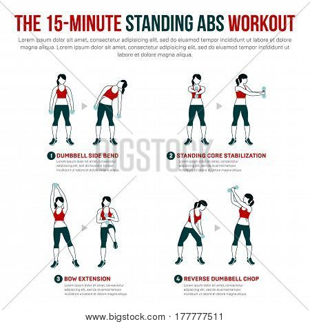15 Minute Standing Abs Workout