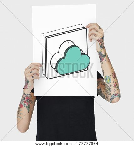 Cloud Upload Sync Data System Graphic