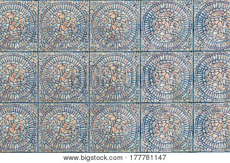 Texture of a symmetry tile pattern abstract