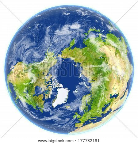 Arctic Ocean On Planet Earth